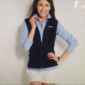 VINEYARD VINES Navy Fleece Vest Size L